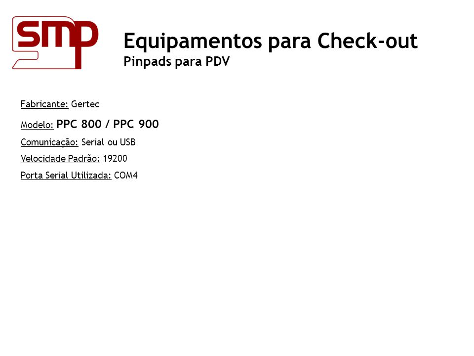 Equipamentos para Check-out