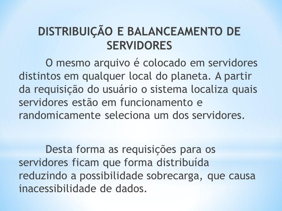 DISTRIBUIÇÃO E BALANCEAMENTO DE SERVIDORES