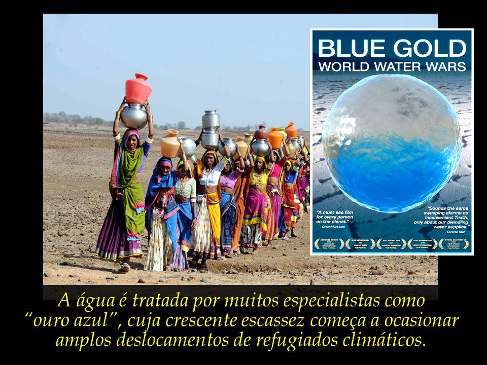 A água é tratada por muitos especialistas como