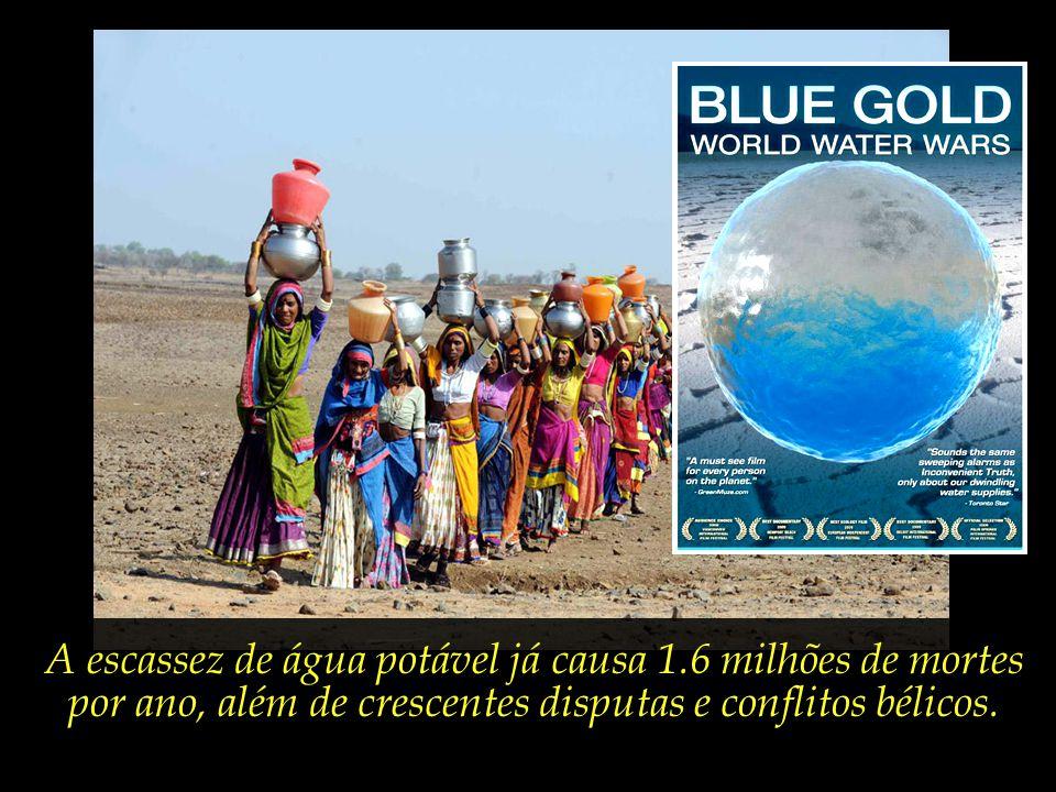 A escassez de água potável já causa 1