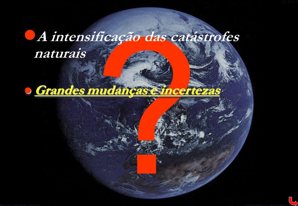A intensificação das catástrofes naturais