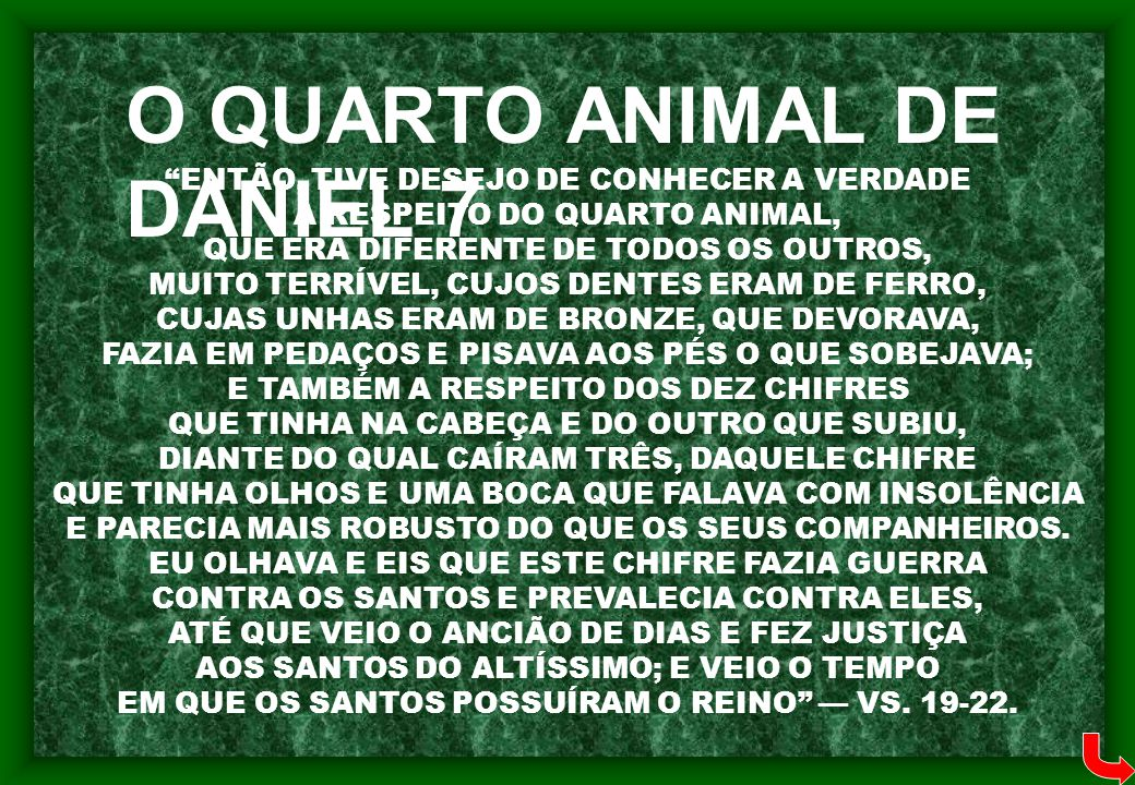 O QUARTO ANIMAL DE DANIEL 7