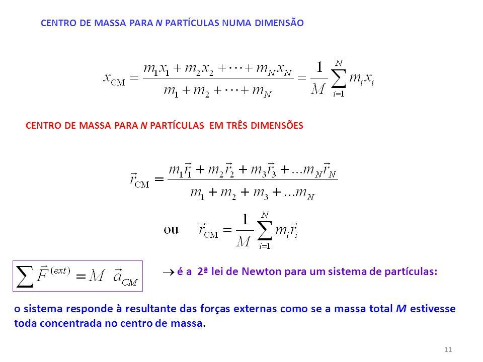  é a 2ª lei de Newton para um sistema de partículas: