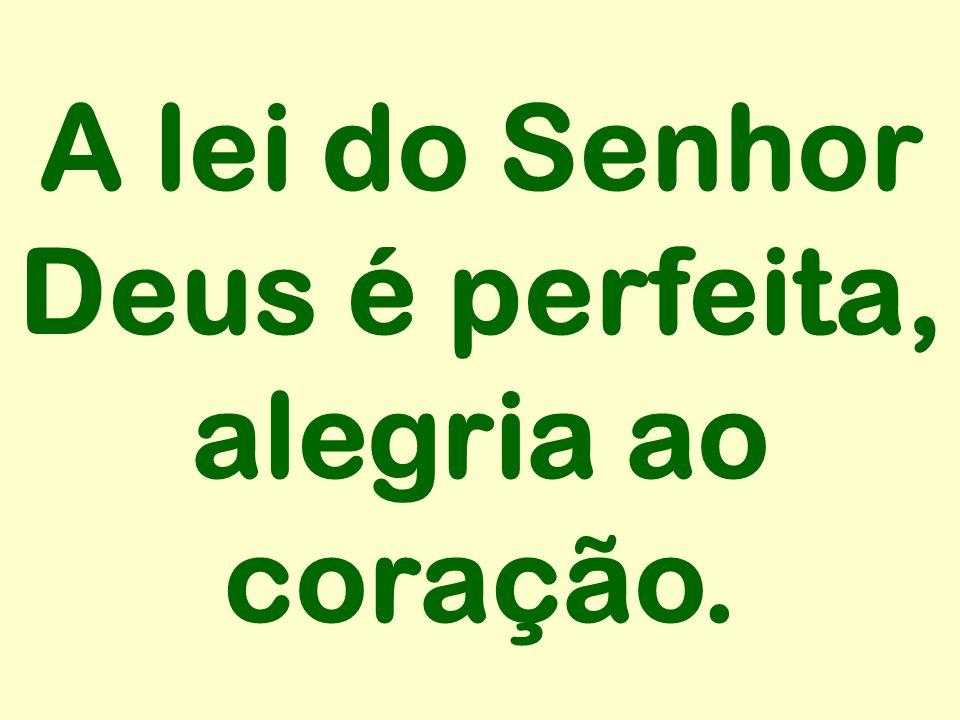 A lei do Senhor Deus é perfeita, alegria ao coração.