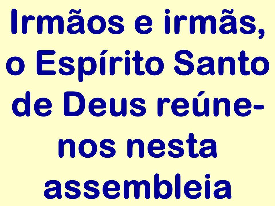 Irmãos e irmãs, o Espírito Santo de Deus reúne-nos nesta assembleia