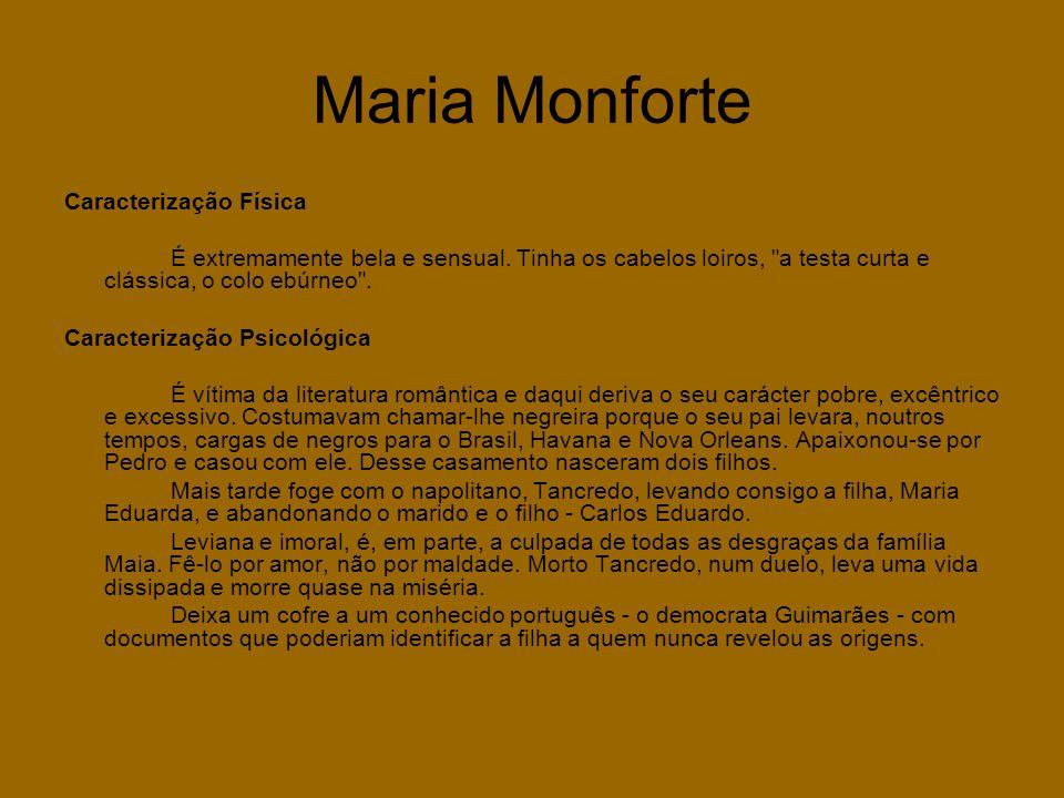 Maria Monforte Caracterização Física
