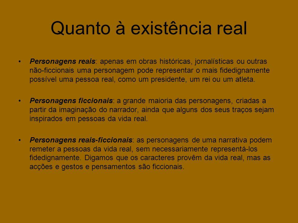 Quanto à existência real