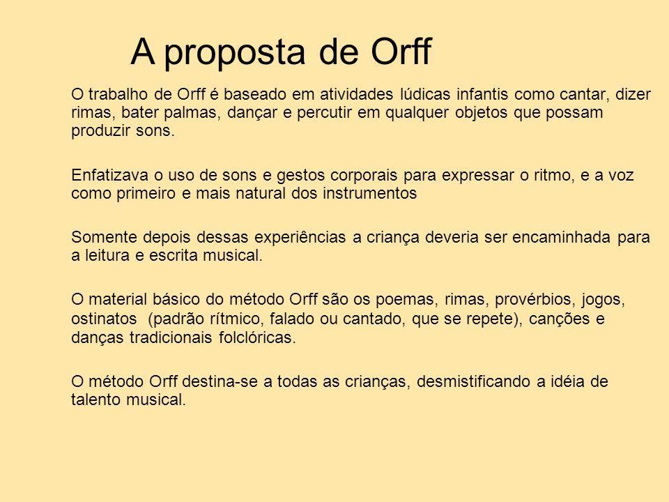 A proposta de Orff