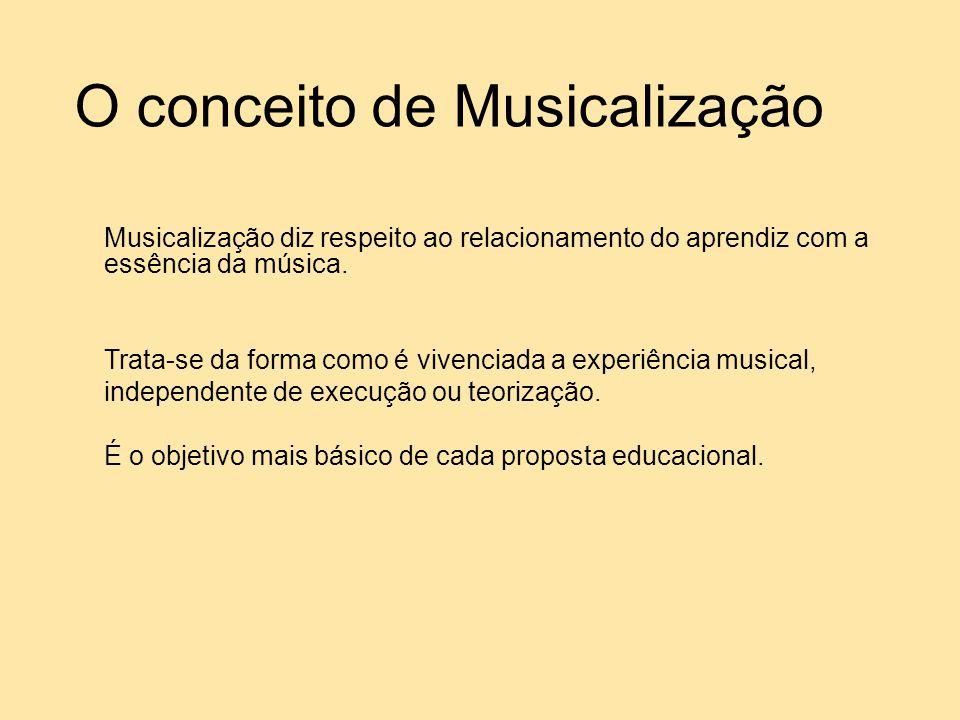 O conceito de Musicalização