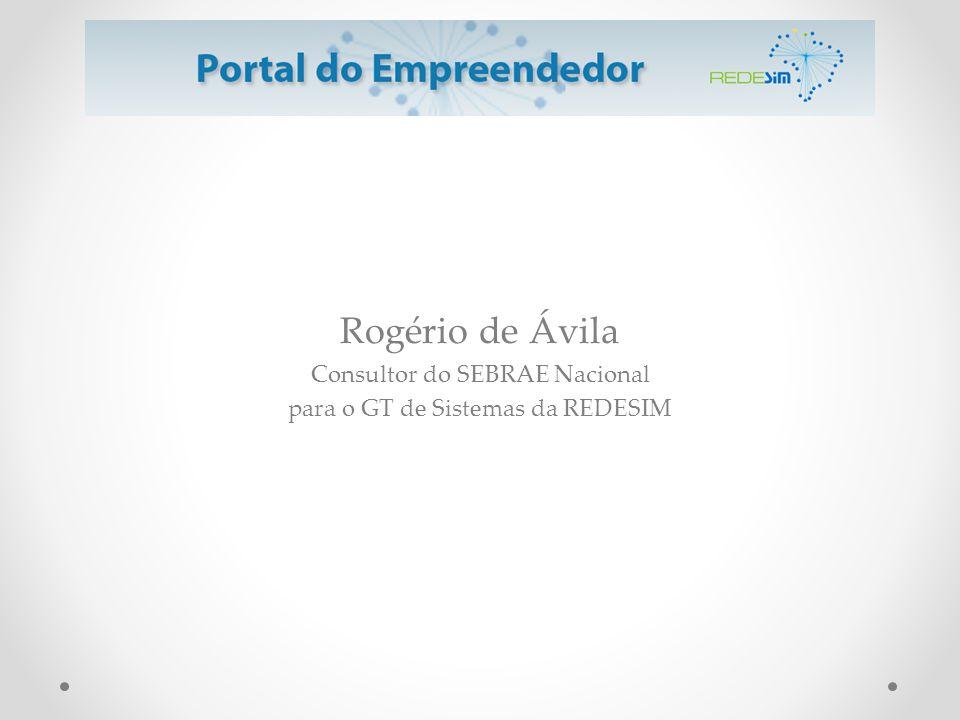 Rogério de Ávila Consultor do SEBRAE Nacional