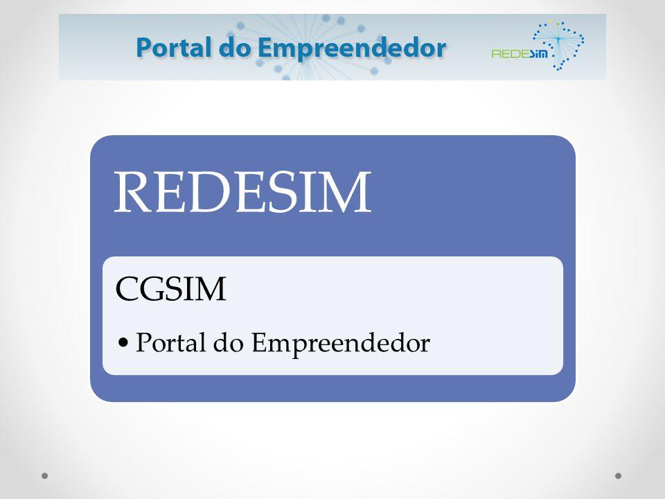 REDESIM CGSIM Portal do Empreendedor