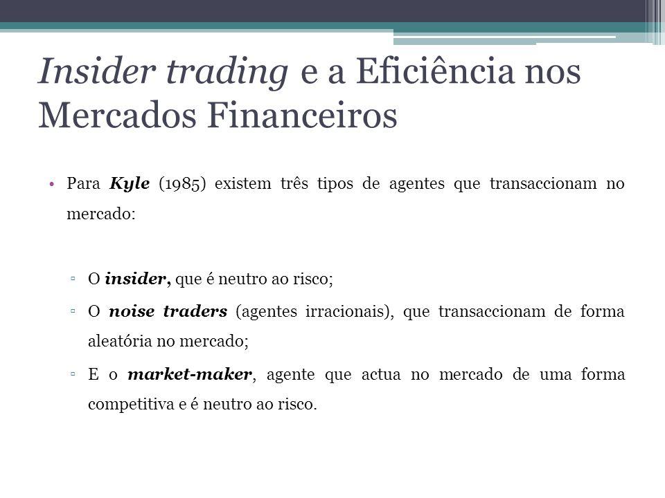 Insider trading e a Eficiência nos Mercados Financeiros