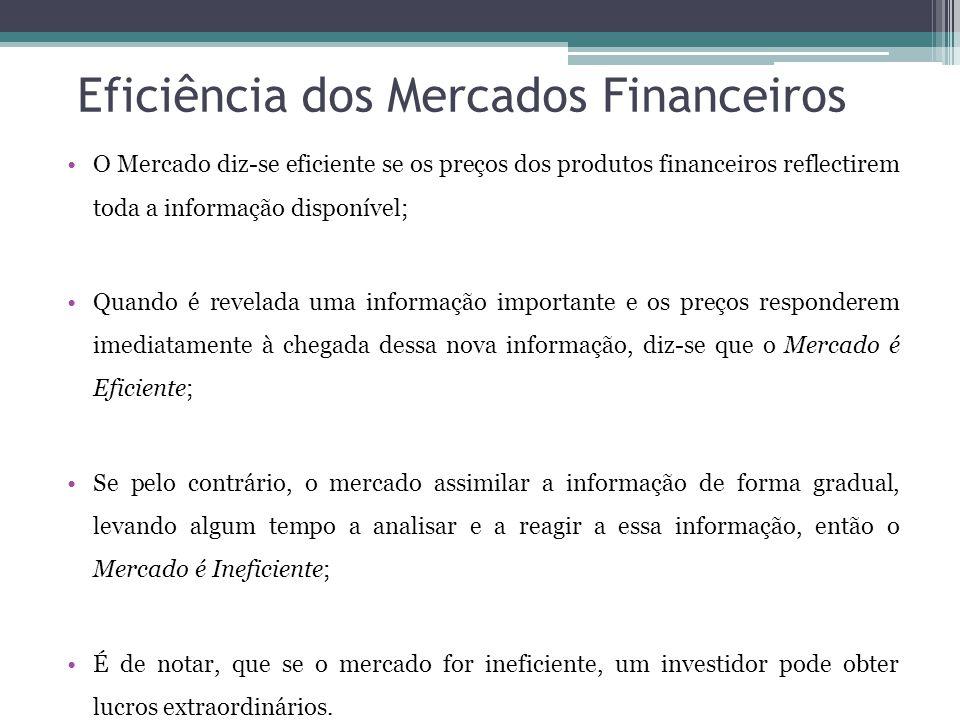 Eficiência dos Mercados Financeiros