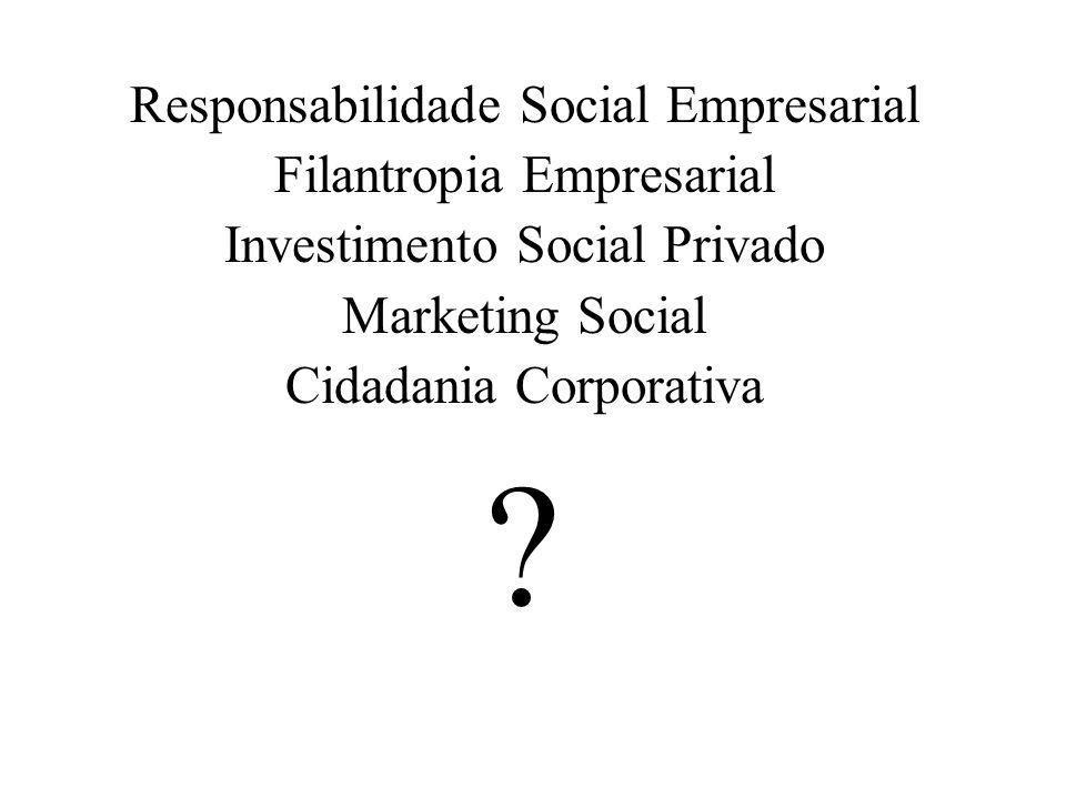 Responsabilidade Social Empresarial Filantropia Empresarial