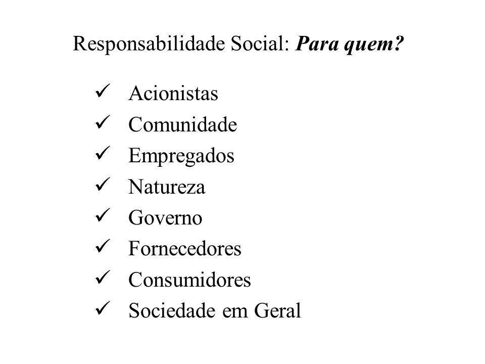 Responsabilidade Social: Para quem