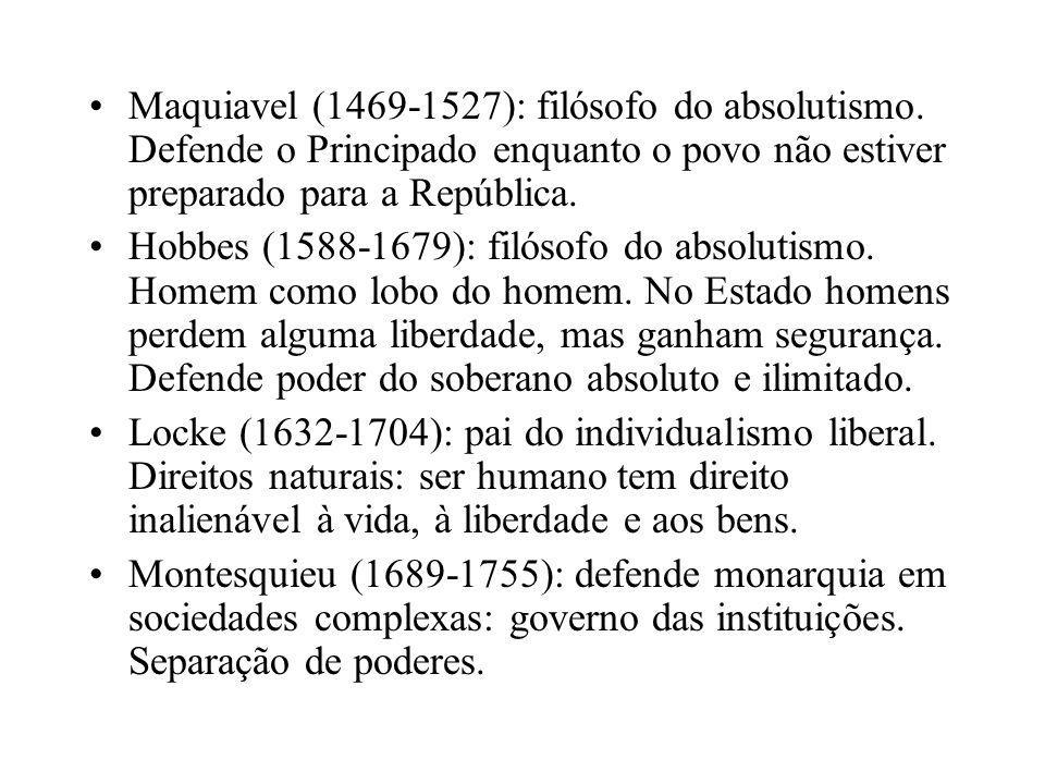 Maquiavel (1469-1527): filósofo do absolutismo