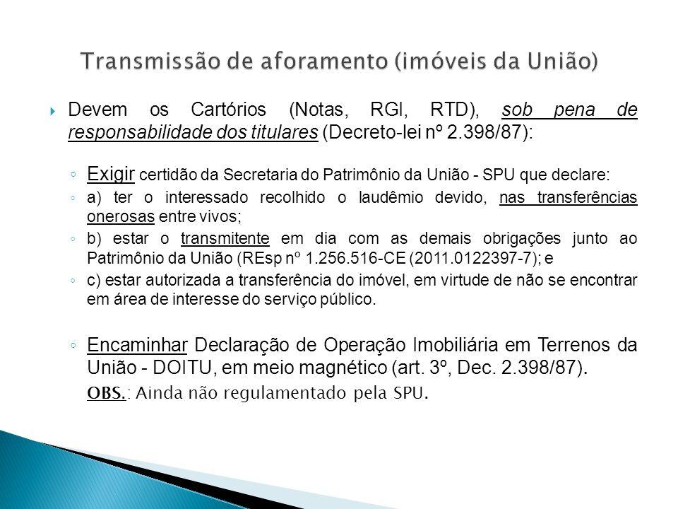Transmissão de aforamento (imóveis da União)