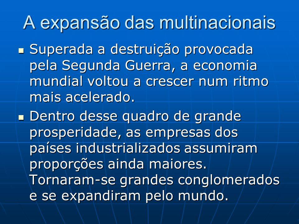 A expansão das multinacionais