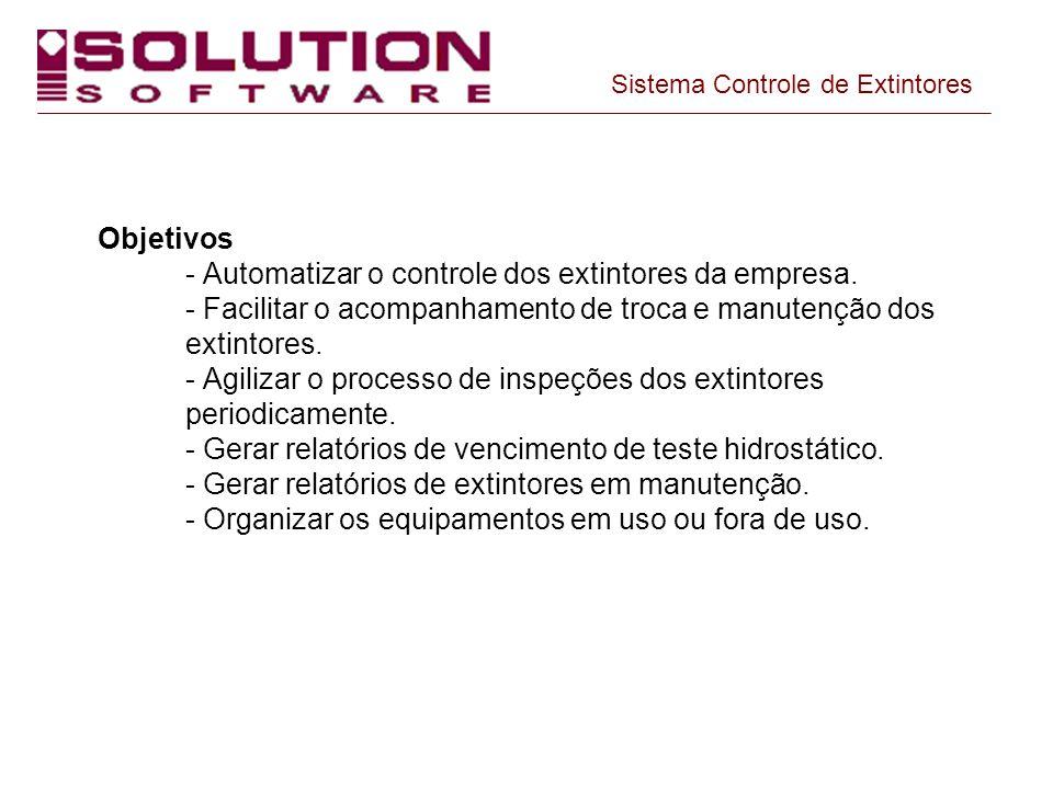 Sistema Controle de Extintores