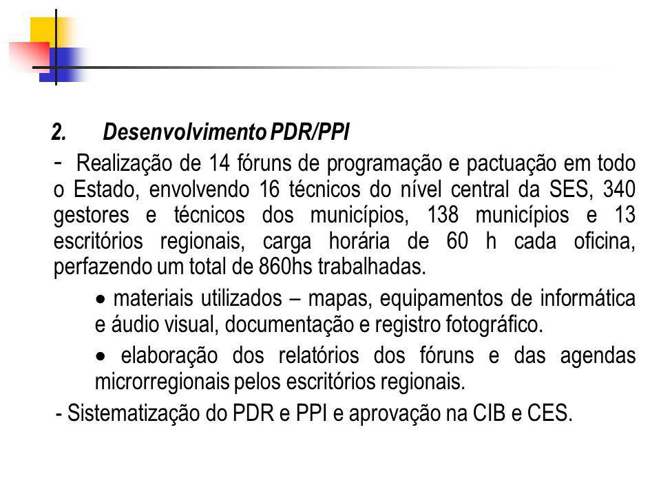 2. Desenvolvimento PDR/PPI