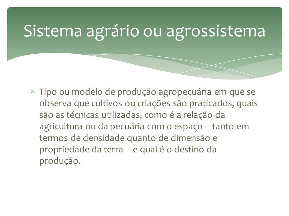 Sistema agrário ou agrossistema