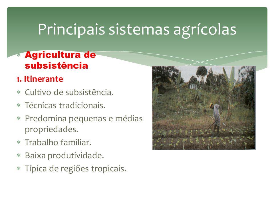 Principais sistemas agrícolas