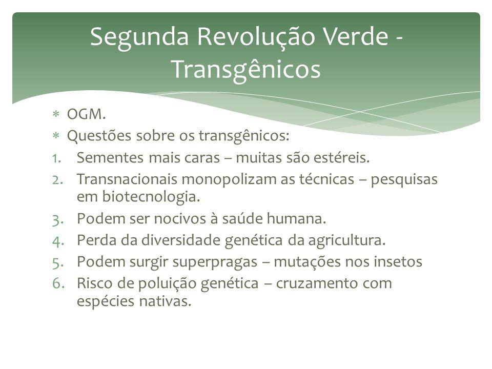Segunda Revolução Verde - Transgênicos
