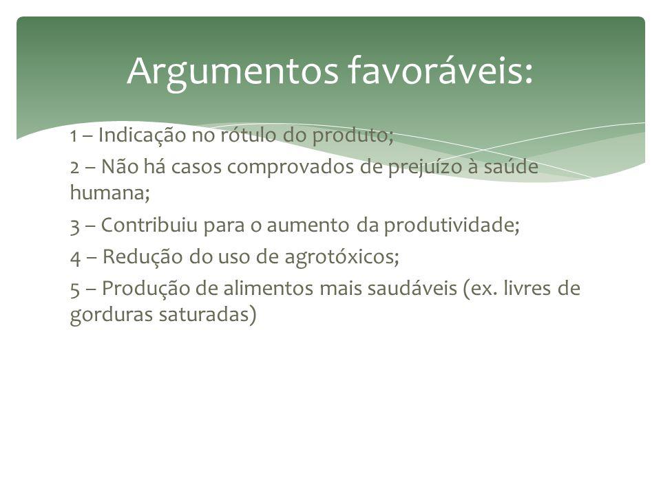 Argumentos favoráveis: