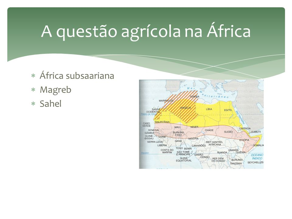 A questão agrícola na África