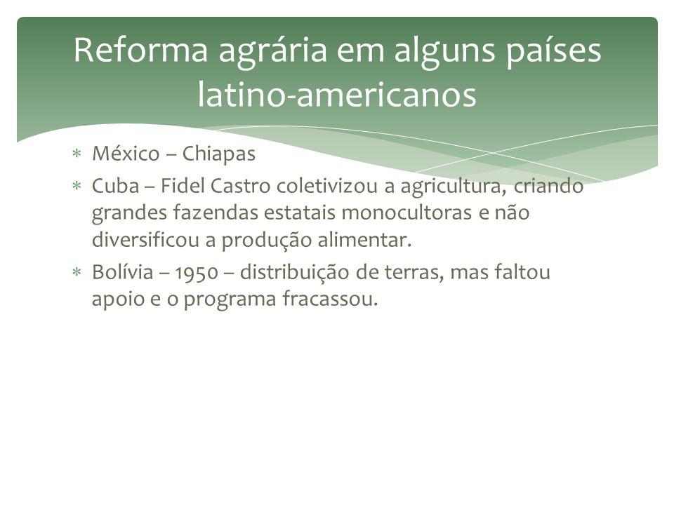 Reforma agrária em alguns países latino-americanos