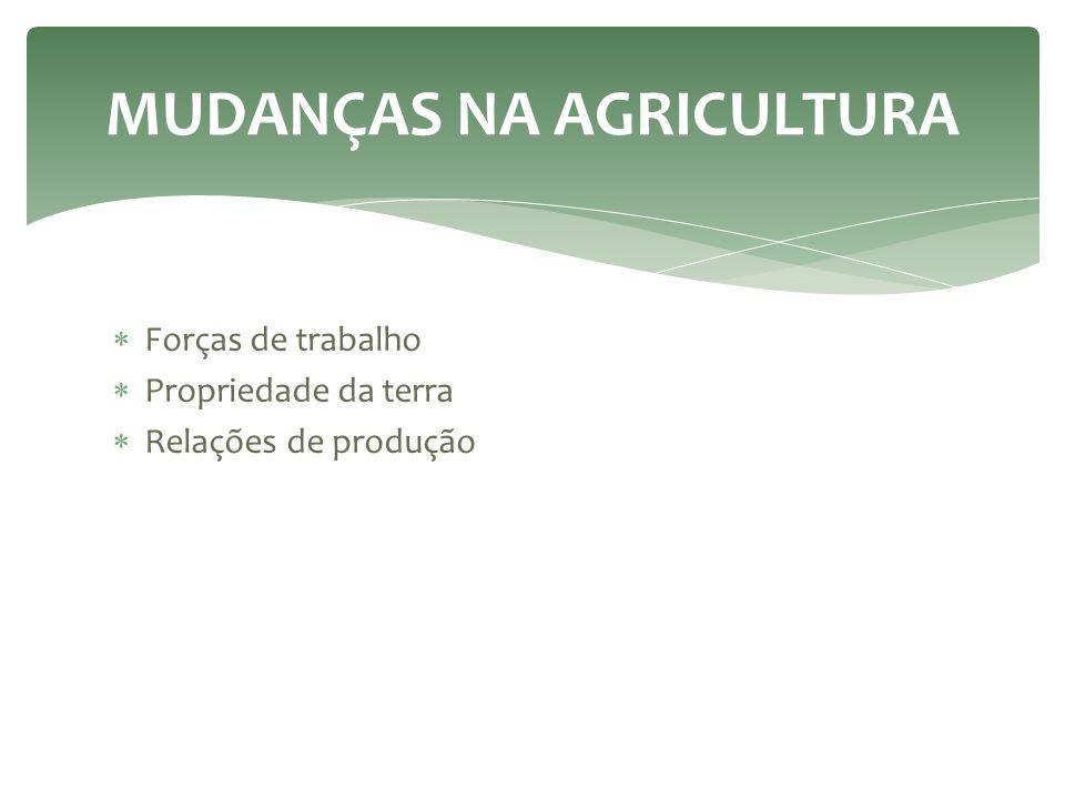 MUDANÇAS NA AGRICULTURA