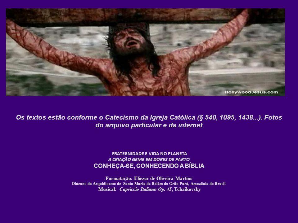 Os textos estão conforme o Catecismo da Igreja Católica (§ 540, 1095, 1438...). Fotos do arquivo particular e da internet