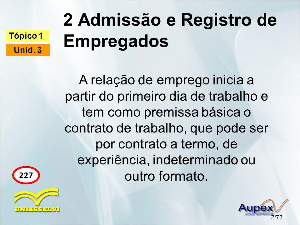 2 Admissão e Registro de Empregados