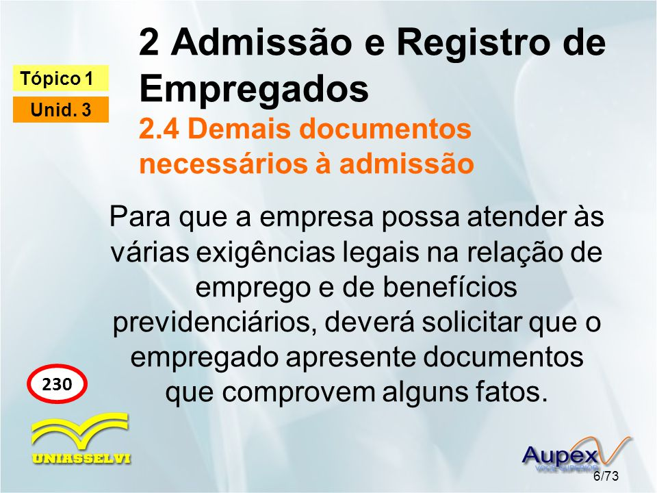 2 Admissão e Registro de Empregados 2