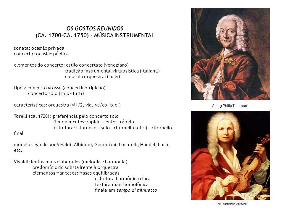 (CA. 1700-CA. 1750) - MÚSICA INSTRUMENTAL