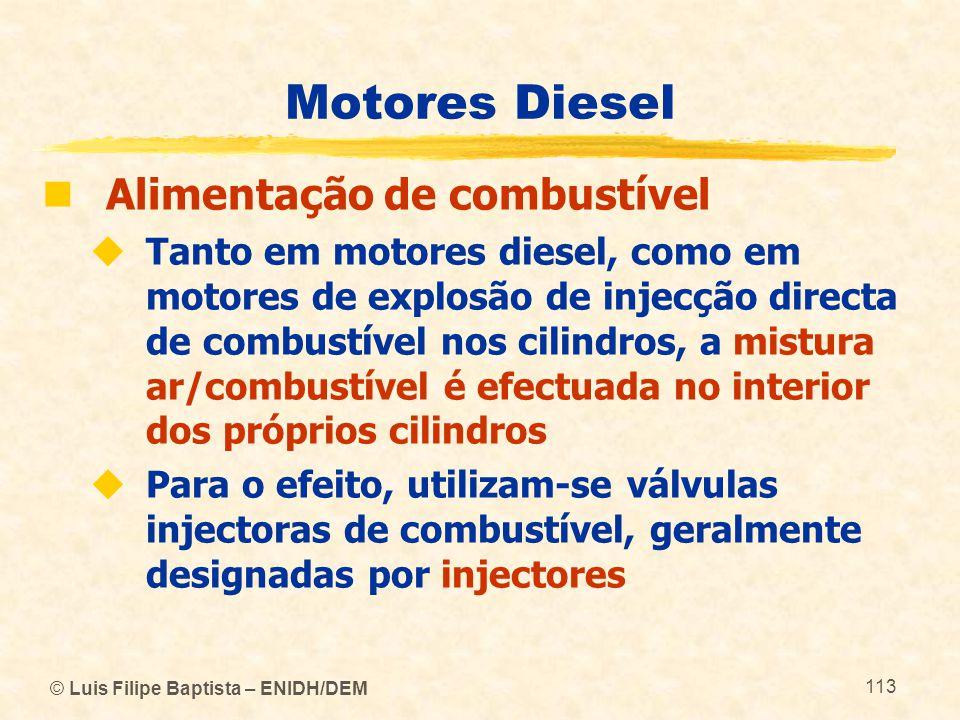Motores Diesel Alimentação de combustível