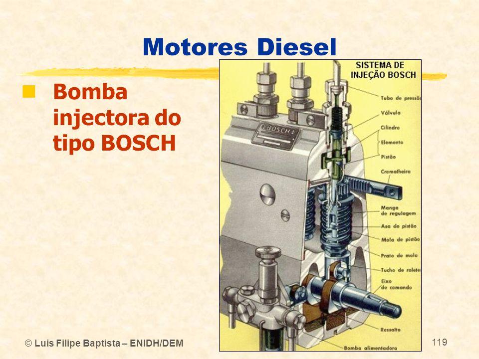Motores Diesel Bomba injectora do tipo BOSCH