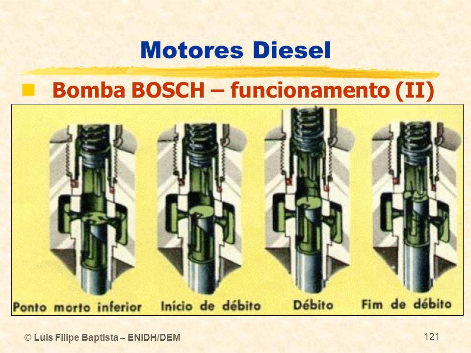 Motores Diesel Bomba BOSCH – funcionamento (II)