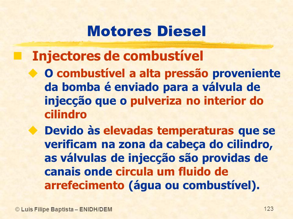 Motores Diesel Injectores de combustível