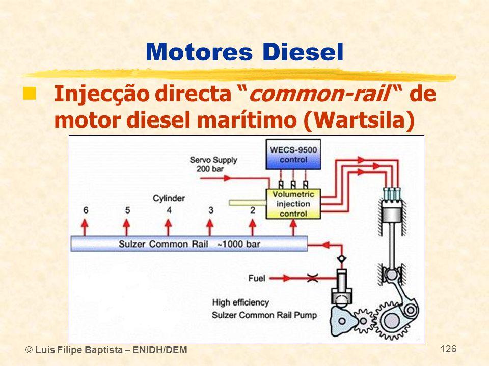 Motores Diesel Injecção directa common-rail de motor diesel marítimo (Wartsila) © Luis Filipe Baptista – ENIDH/DEM.