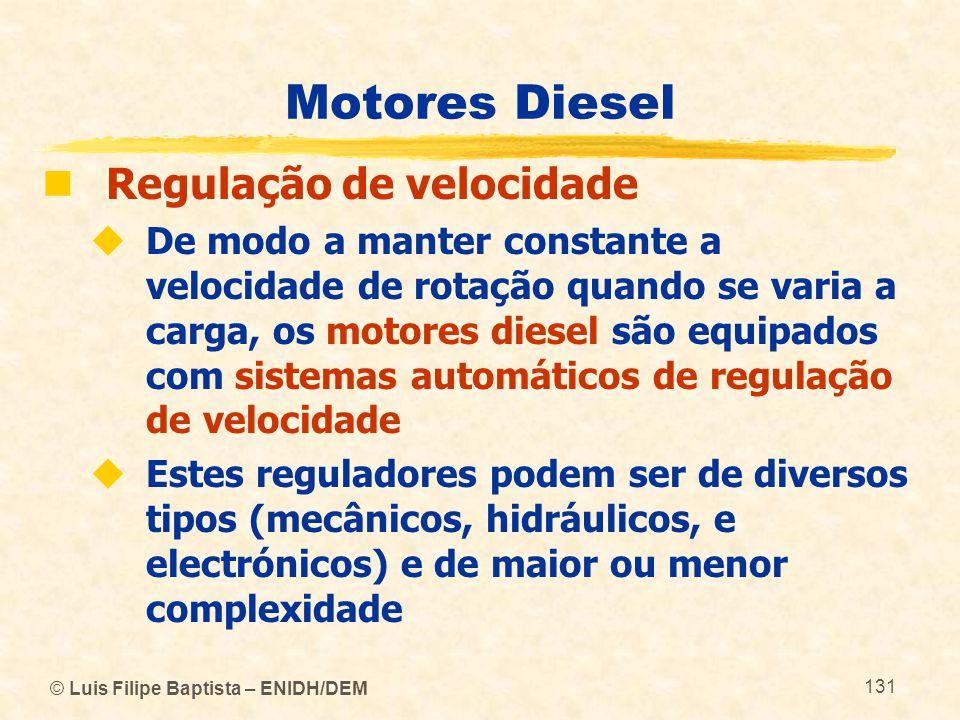 Motores Diesel Regulação de velocidade