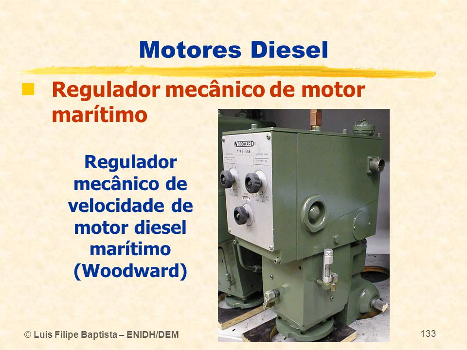 Regulador mecânico de velocidade de motor diesel marítimo (Woodward)