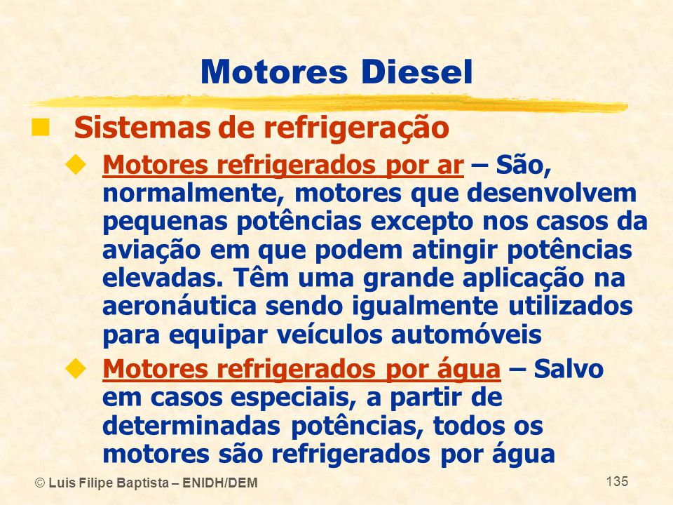 Motores Diesel Sistemas de refrigeração