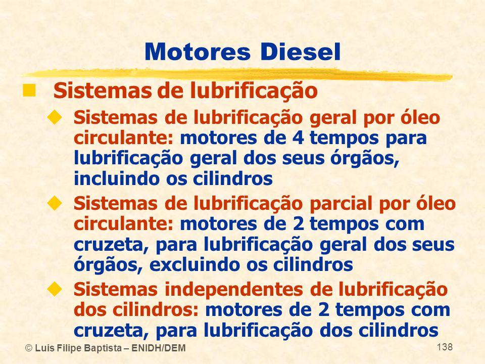 Motores Diesel Sistemas de lubrificação