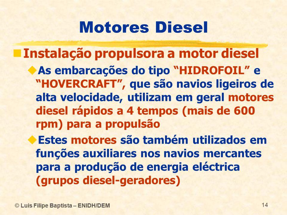 Motores Diesel Instalação propulsora a motor diesel