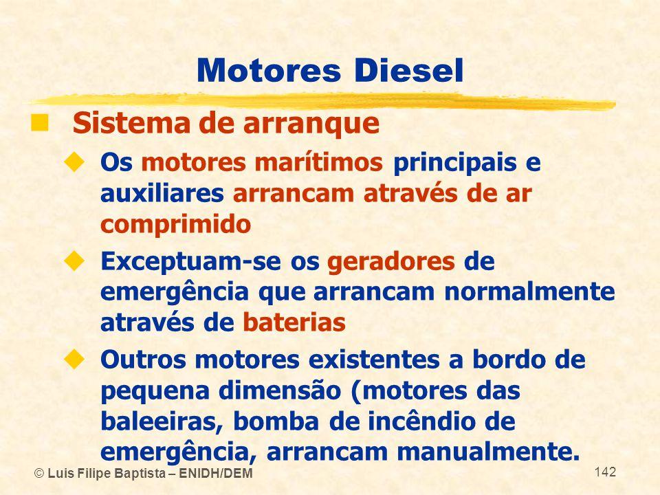Motores Diesel Sistema de arranque