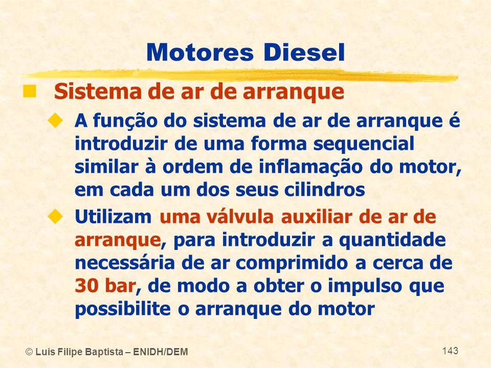 Motores Diesel Sistema de ar de arranque