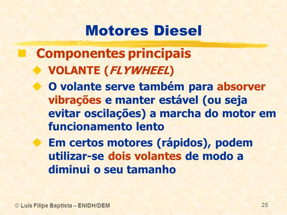 Motores Diesel Componentes principais VOLANTE (FLYWHEEL)