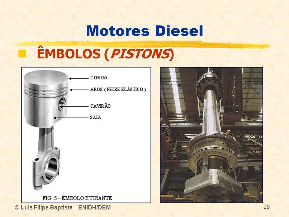 Motores Diesel ÊMBOLOS (PISTONS) © Luis Filipe Baptista – ENIDH/DEM