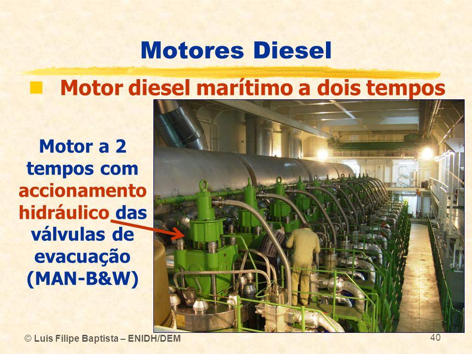 Motores Diesel Motor diesel marítimo a dois tempos
